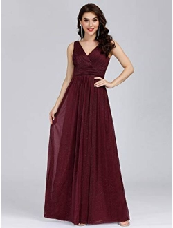 Women's Ruched Empire Wasit Bridesmaid Dresses 7764