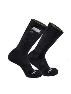IQ TCK Performance Zip Pocket Crew Socks Stash & Dash Men Women
