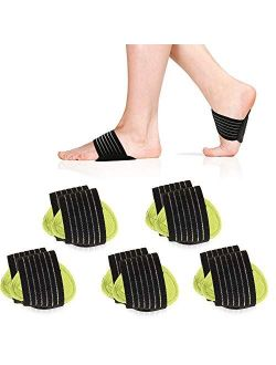 5 Pair Arch Support Brace Compression Cushioned Support Sleeves, Plantar Fasciitis Foot Pain Relief for Fallen Arches, Flat Feet, Heel Fatigue, Achy Feet Problems, for Me