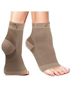 Serenily Plantar Fasciitis Socks - Toeless Socks, Arch support socks for Foot Pain Relief & Plantar Fasciitis. Ankle Compression Socks for Achilles Tendinitis. Foot Sleev
