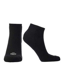Doctor's Choice Plantar Fasciitis Compression Socks, Arch Support for Men & Women, 10-20 mmHg Compression (White, Medium)