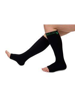 Vagabond 3XL and 2XL Wide Calf Toeless Compression Socks -15-20 mmHg for Fatigue, Pain, Leg Swelling, Comfy Compression