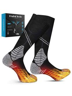 Binnice New Heated Socks Winter Electric Rechargeable 3 Heating Settings Thermal Sock Foot Warmer for Men and Women