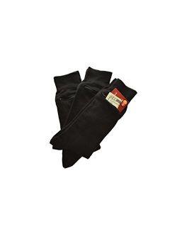 Pocket Socks by Zip It Gear - Dress Socks - Men's (One Size Fits All), 3-Pack, Black