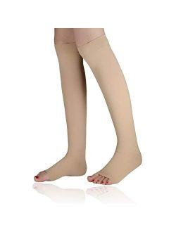 Song Qing Women Medical Calf Compression Stockings 40-50 mmHg Knee High Socks for Pregnancy Varicose Veins Socks