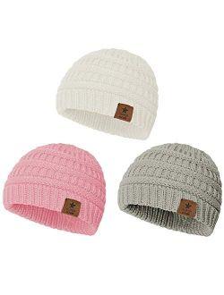 Zando Baby Beanies for Girls Winter Caps Warm Infant Toddler Children's Beanie Knit Hats