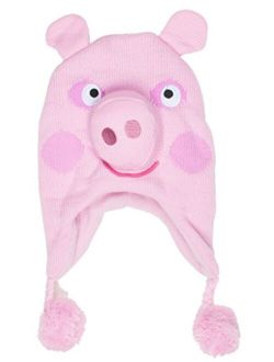 Peppa Pig Pink Peppa Scandinavian Knitted Hat with Pom Pom, Age 2-6