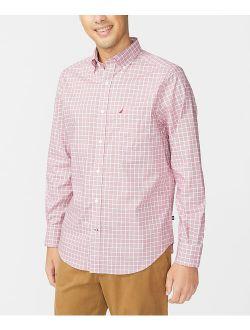 L Red Plaid Classic-fit Wrinkle-resistant Button-up - Men