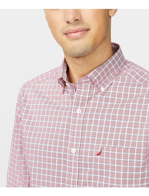 Nautical Red Plaid Classic-Fit Wrinkle-Resistant Button-Up - Men