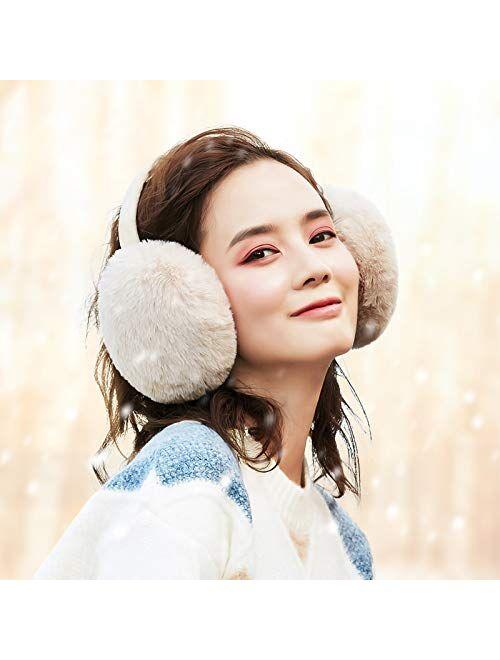 Winter Ear muffs Faux Fur Warm Earmuffs Cute Foldable Outdoor Ear Warmers For Women Girls