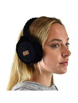 C.C Soft Winter Warm Adjustable Headband Ear Warmer Earmuffs