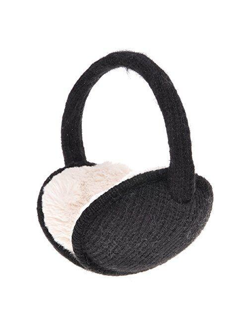 ZLYC Womens Girls Winter Warm Adjustable Knitted Ear Warmers Foldable Earmuffs