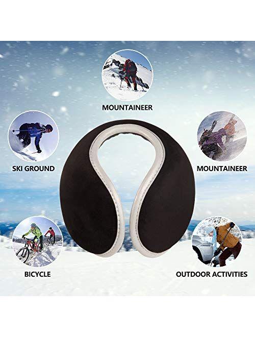 Earmuffs Unisex Ear Muffs Foldable Ear Warmers Z-Dear Knit Behind the Head Winter Earmuffs Ear Covers for Cold Weather