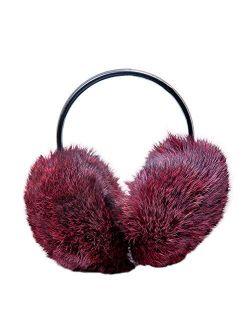 Warm Fur Female Earmuffs Made Of Genuine Rabbit Fur