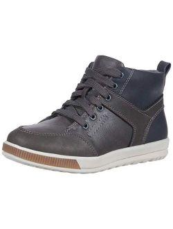 Unisex-child Landry Memory Foam Dress Casual Comfort High Top Sneaker Boot