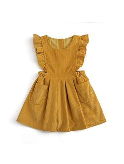 Simplee kids Toddler Girl Casual Dress for Spring Girls Skrit with Pocket
