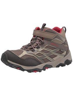 Moab Fst Mid Alternative Closure Waterproof Hiking Boot, Boulder, 1 Us Unisex Big Kid