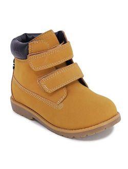 Nautica Kids Chukka Boot Boys Dress Bootie Adjustable Strap/Zipper (Toddler/Little Kids)