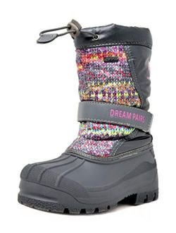 Boys & Girls Mid Calf Waterproof Winter Snow Boots