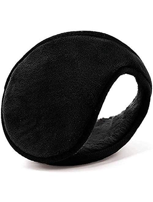 Mocofo Classic Fleece Ear Muffs Headwear Collapsible Behind The Head Winter Ear Warmers for Women and Men