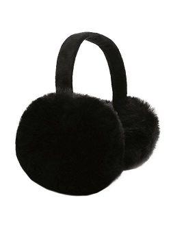 Sudawave Women Girls Winter Warm Ultra Soft Faux Fur Plush Earmuffs Ear Warmer Foldable