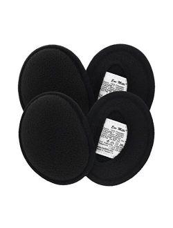 Ear Mitts 2 Pack Fleece Bandless Ear Muffs Warmers Covers for Winter, Running, Men or Women