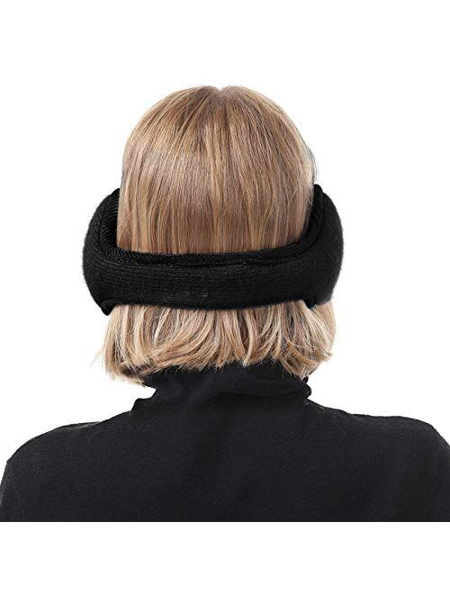 Durio Earmuffs for Women Knit Fuzzy Earmuffs Fur Womens Ear Muffs Warm Ear Warmers for Winter Women Fluffy Earmuffs