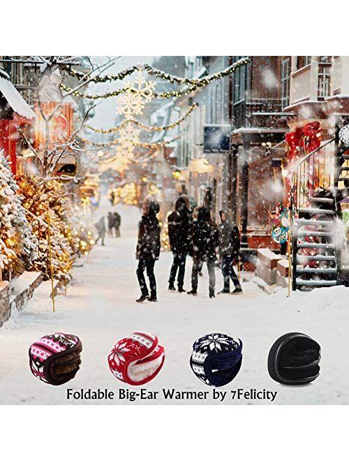 Ear Muffs for Winter Men Women - Ear Warmers Covers - FoldableEarmuffs Outdoor for Cold Weather