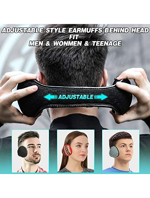 Winter Ear Muffs for Women Men (2 Pack/ 1 Pack) Foldable Ear Warmer for Outdoor Valentines Gift