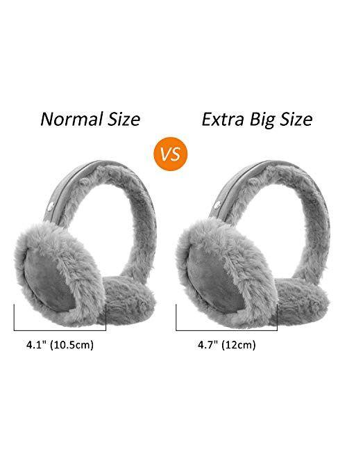 Unisex Faux Fur Ear Warmers/Earmuffs Winter Warm Classic Ear Muffs Outdoor Earwarmer for Men&Women