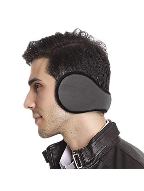 Eianru Polar Fleece Ear Cover Foldable Wrap Winter Accessory Outdoor EarMuffs