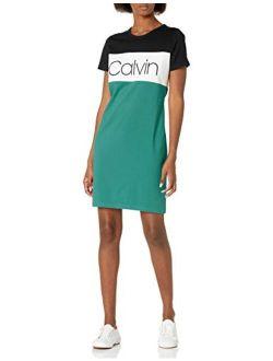 Women's Short Sleeve Logo T-shirt Dress