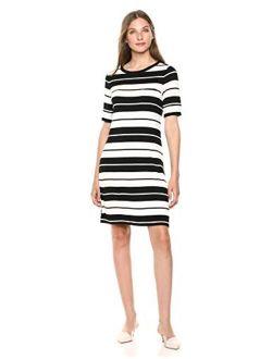 Women's Short Sleeve Dress With Pocket