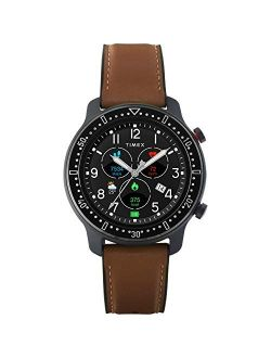 Metropolitan R Amoled Smartwatch With Gps & Heart Rate 42mm – Black With Brown Leather & Silicone Strap