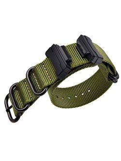 E Military Ballistic Nylon Strap Replacement G-shock Watch Bands Compatible With Casio G-shock Watch Model Dw-5600 / Gwm-5610 / Dwe-5600 / Gmw-b5000 / Gm-5600 / Gw-b