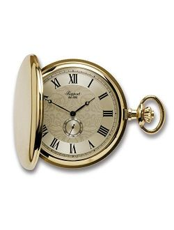 Rapport London, Quartz Full Hunter Gold Plated Pocket Watch with Champagne Dial
