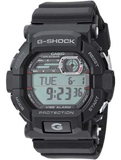 Gshock Stainless Steel Quartz Watch With Resin Strap, Black, 21.4 (model: Gd350-1cr)