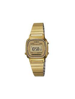 Women's Classic Vintage Quartz Watch With Stainless Steel Strap, Gold, 10 (model: La670wga-9)