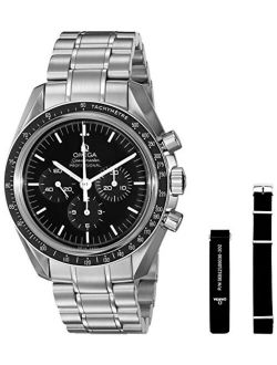 Omega Men's Speed master Analog Display Mechanical Hand Wind Silver Watch