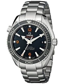 Omega Men's 232.30.42.21.01.003 Planet Ocean Analog Automatic Self Wind Black Dial Watch