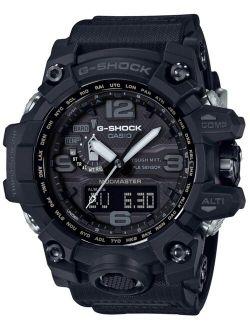 Men's Solar Analog-Digital Master of G Black Resin Strap Watch 56mm