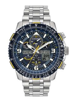 Eco-Drive Men's Analog-Digital Promaster Blue Angels Skyhawk A-T Stainless Steel Bracelet Watch 46mm