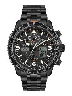 Eco-Drive Men's Analog-Digital Promaster Skyhawk A-T Black Stainless Steel Bracelet Watch 46mm