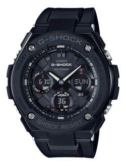 Men's Analog-Digital Black IP with Black Resin Strap G-Steel Watch 51x53mm GSTS100G-1B