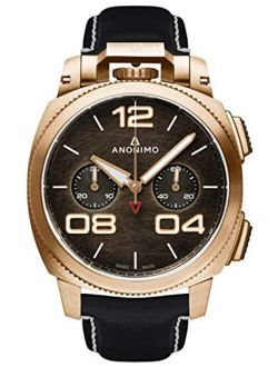 Anonimo Militare Mens Analog Automatic Watch with Leather Bracelet AM112004001A01
