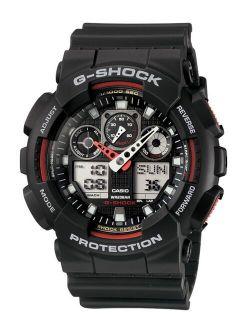 Men's Analog Digital Black Resin Strap Watch GA100-1A4