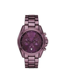 Women's Bradshaw Quartz Watch With Stainless Steel Strap, Purple, 22 (model: Mk6721)