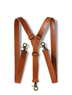 """London Jae Apparel Brown Suspenders for Men (35""""-67"""" fits up to 6'8 Big&Tall)"""