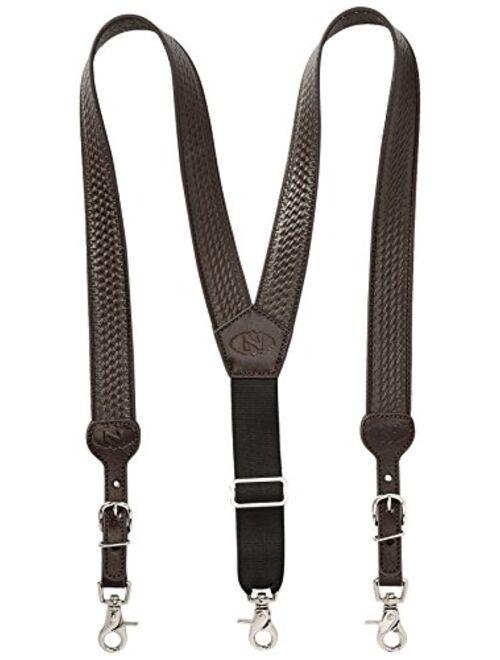 Nocona Belt Co. Men's Basic Basket Leather Suspender