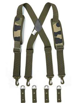 MeloTough Tactical heavy duty suspenders ,Police Suspenders for Duty Belt Suspenders with Padded Adjustable tool belt Suspenders Camo Green …